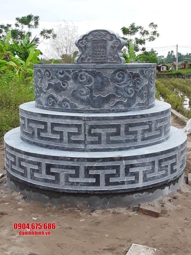 mẫu mộ tròn bằng đá tại bình phước