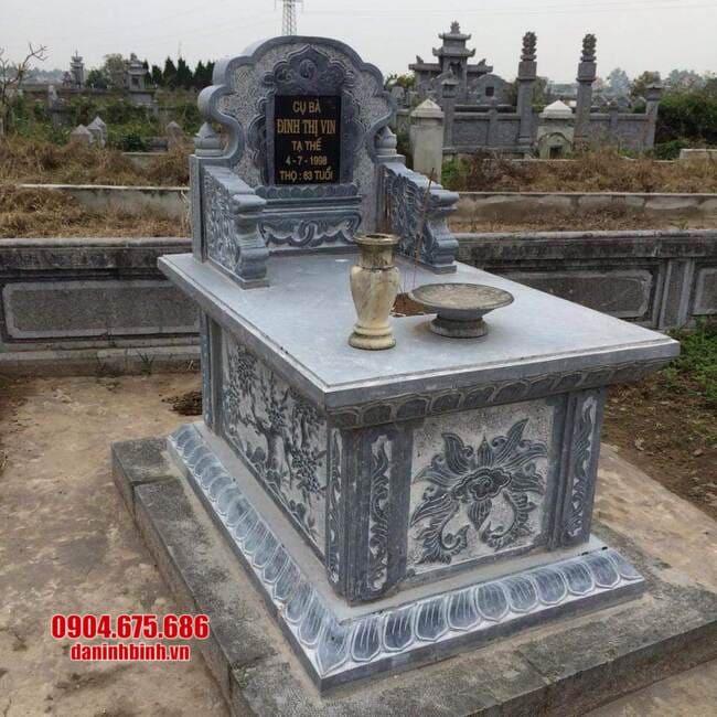 mộ bành bằng đá đẹp tại bình phước