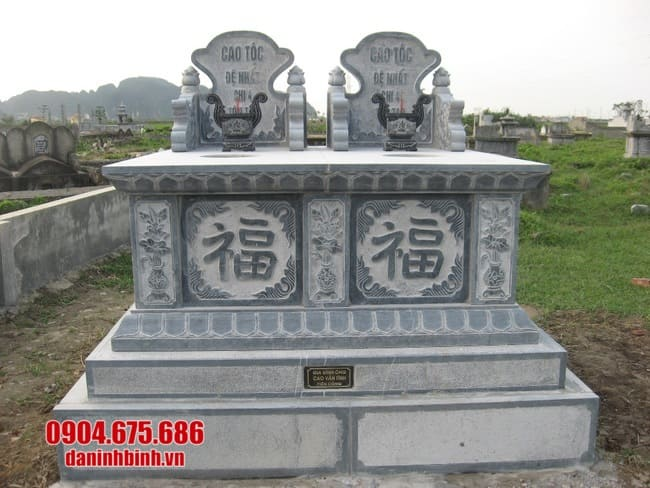 mộ đá đôi đẹp tại bạc liêu