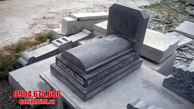 mộ đá tam cấp đẹp tại bạc liêu