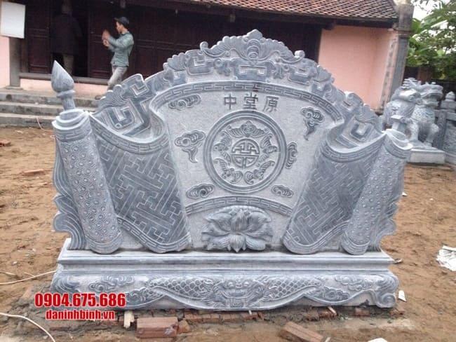 mẫu cuốn thư bằng đá tại Bắc Giang