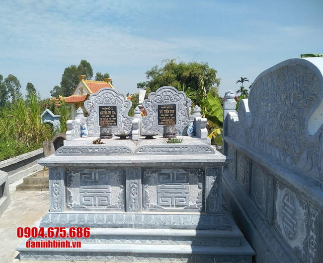 mẫu mộ đá đôi tại Huế đẹp