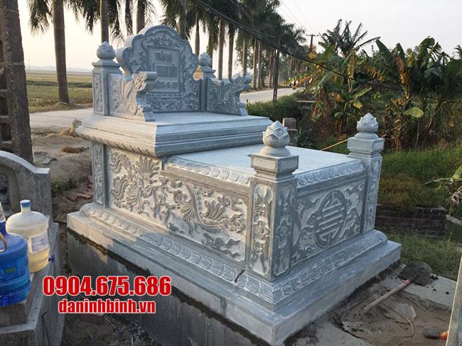 quy trình làm mộ đá của cơ sở Đá mỹ nghệ Ninh Bình