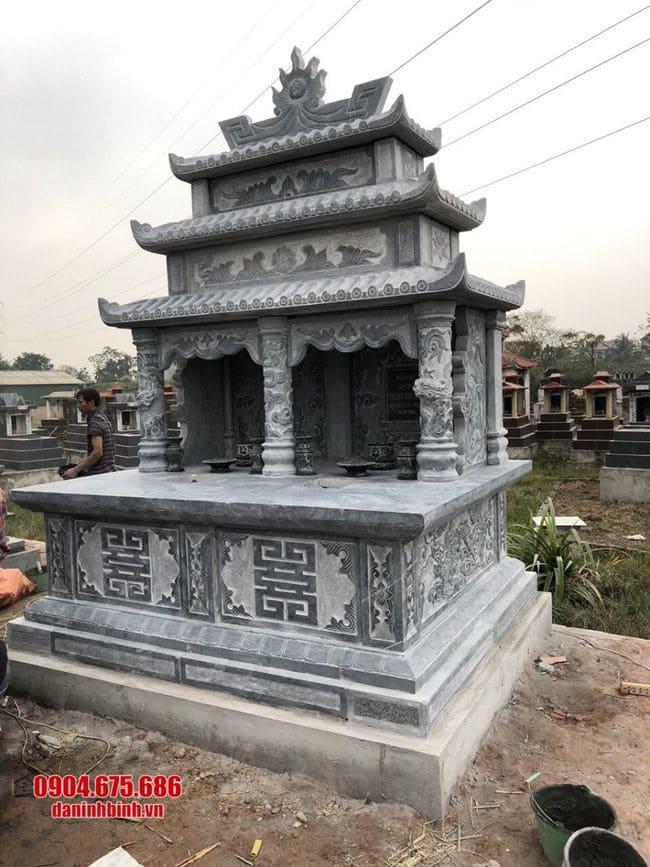 mẫu mộ đá đôi đẹp tại Bình Định