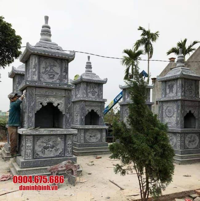 mẫu mộ đá hình tháp tại Bình Định đẹp nhất