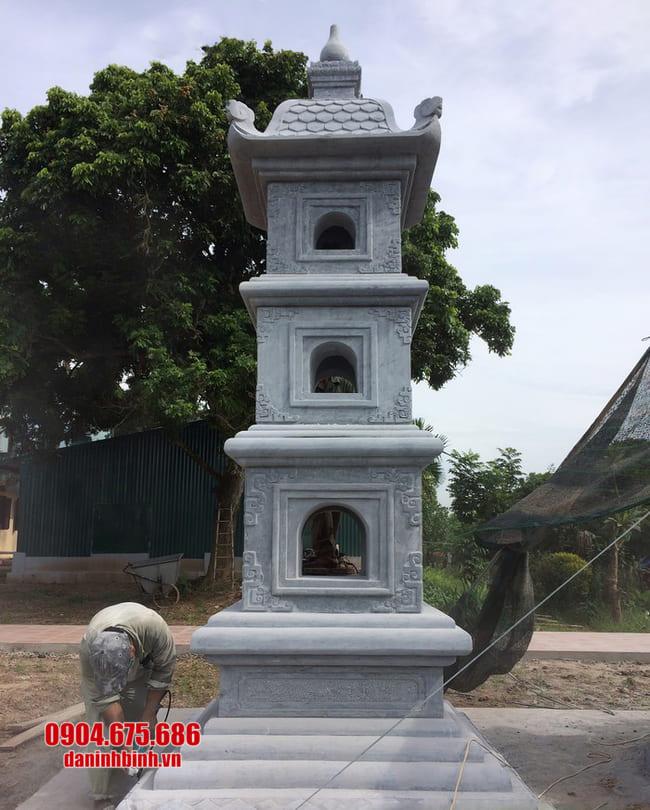 mẫu mộ đá hình tháp tại Phú Yên đẹp