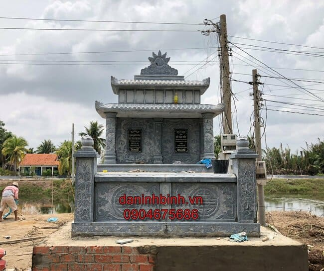 mẫu mộ đôi bằng đá đẹp tại Quảng Ngãi