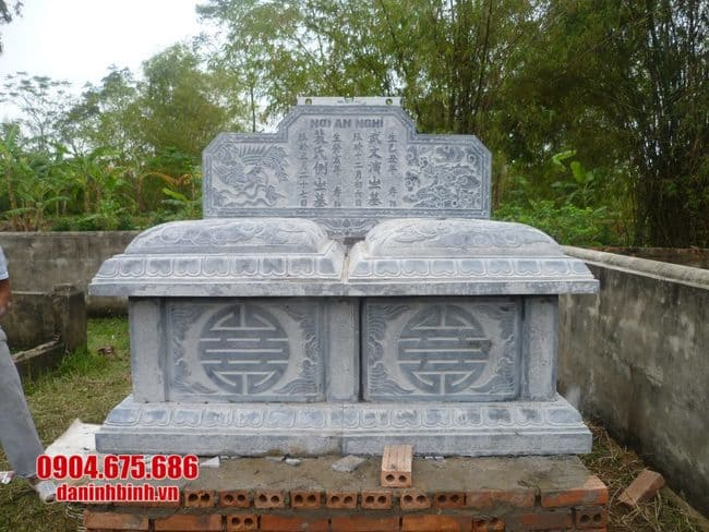 mộ đôi bằng đá tại Bình Định đẹp