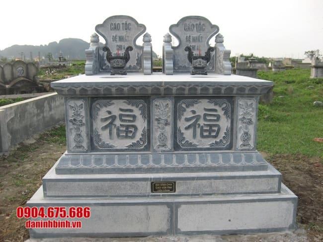 mộ đôi đá mỹ nghệ tại Bình Định đẹp