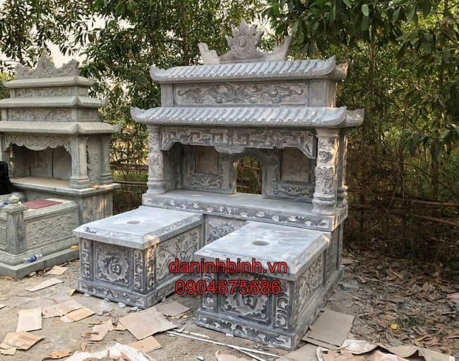 Hình ảnh những mẫu mộ đôi đẹp từ chất liệu đá xanh cao cấp