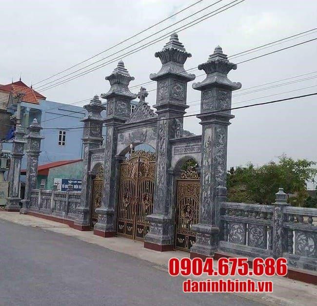 Mẫu cổng đá đẹp nhất Ninh Vân năm 2020