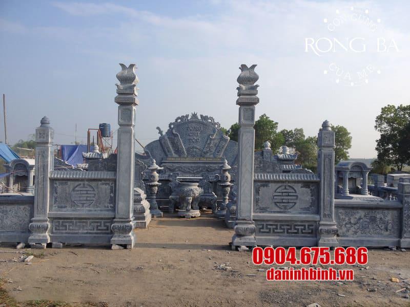 Một số mẫu lăng mộ bằng đá khối đẹp nhất Việt Nam