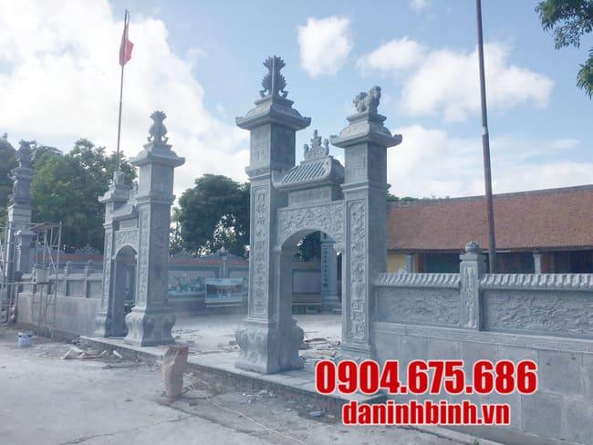 Những kiến trúc cổng đá từ đường nhà thờ họ thông dụng