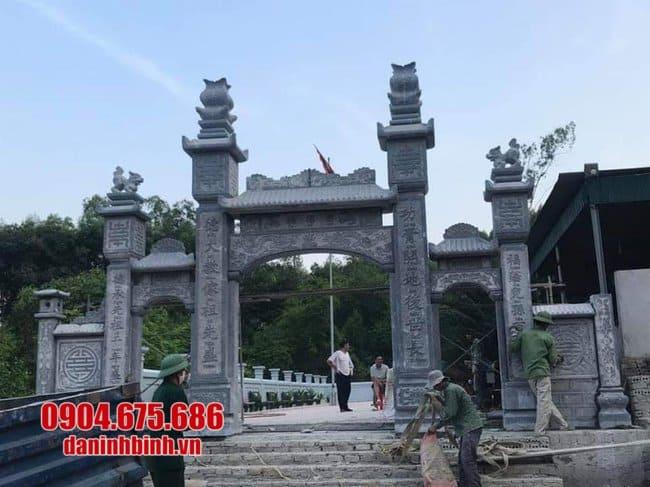 mẫu cổng chùa bằng đá xanh tự nhiên