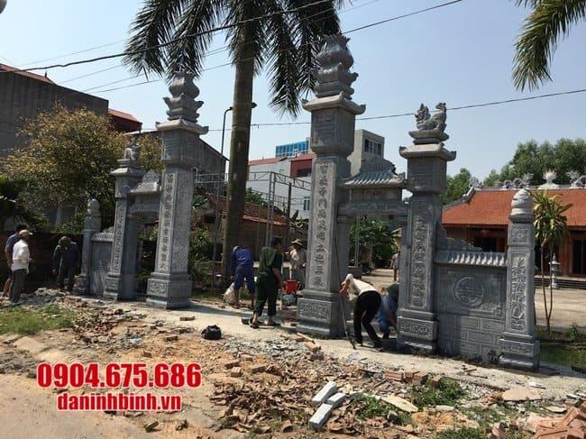 mẫu cổng chùa bằng đá xanh