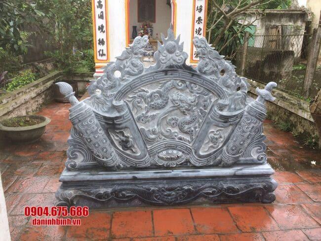 mẫu cuốn thư bằng đá tại Bắc Ninh