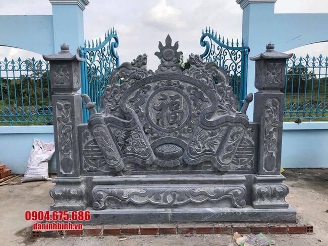 mẫu cuốn thư bằng đá tại Quảng Ninh