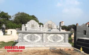 mẫu mộ đôi bằng đá đẹp tại Khánh Hoà