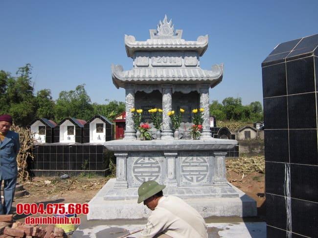 mộ đôi đá mỹ nghệ tại Khánh Hoà