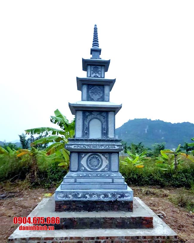 mẫu mộ đá hình tháp tại Bình Thuận đẹp