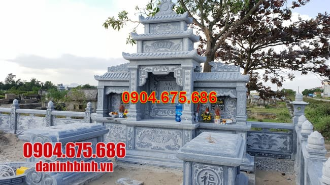 mẫu khu lăng mộ bằng đá đẹp nhất tại Khánh Hoà