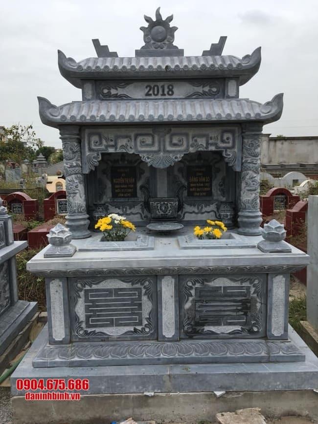 mẫu mộ đá đôi đẹp tại Đồng Tháp