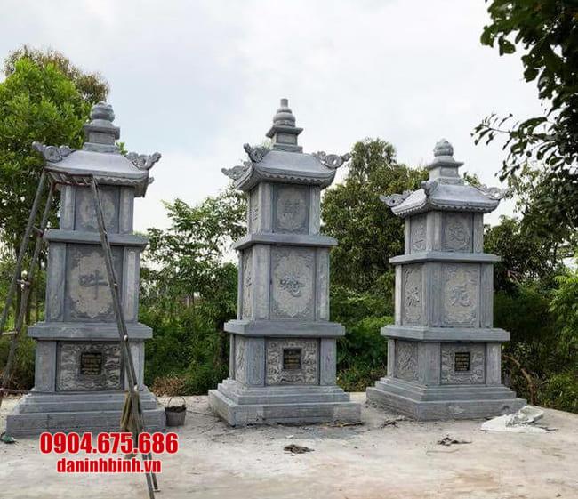 mẫu mộ đá hình tháp tại Kon Tum đẹp nhất