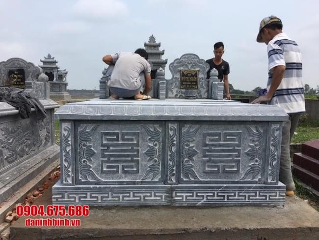 mẫu mộ đôi bằng đá đẹp tại Đồng Tháp