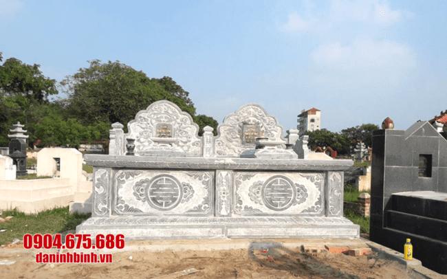 mộ đôi đá mỹ nghệ tại Đồng Tháp đẹp