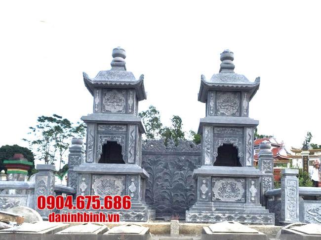 Mẫu tháp mộ bằng đá để hũ tro cốt tại An Giang