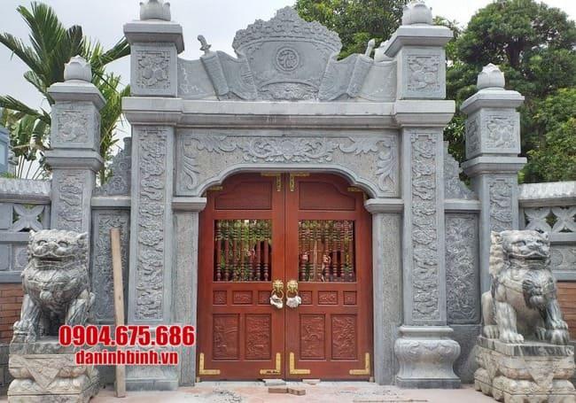 cổng nhà thờ họ bằng đá đẹp tại Hải Dương