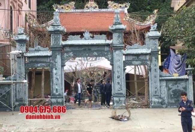 cổng tam quan bằng đá đẹp nhất tại Vĩnh Phúc