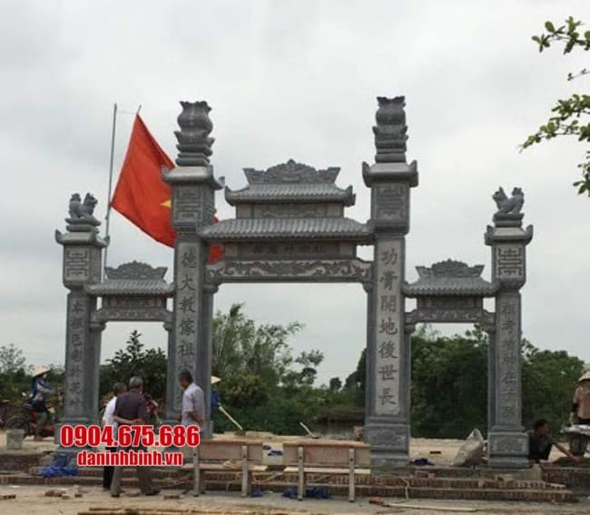 cổng tam quan bằng đá đẹp tại Hải Phòng