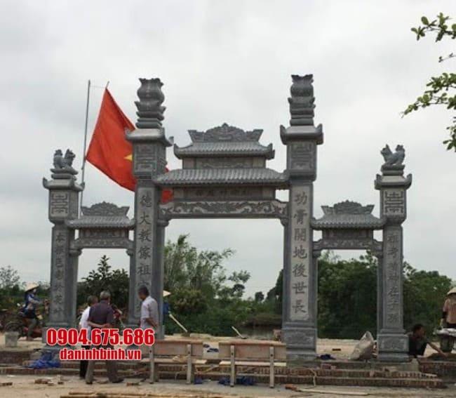 cổng tam quan bằng đá đẹp tại Hưng Yên