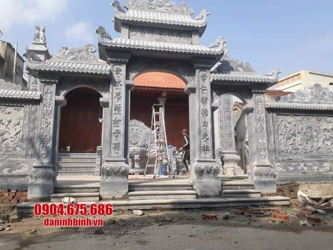 mẫu cổng đá nhà thờ họ tại Hải Dương