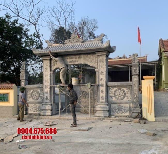 mẫu cổng tam quan bằng đá đẹp nhất tại Vĩnh Phúc