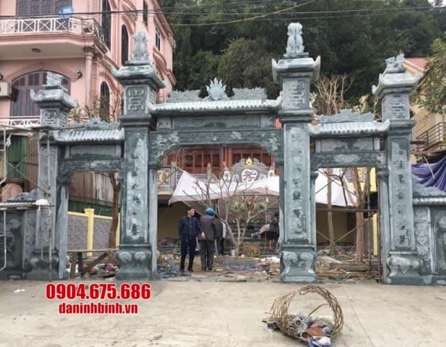 mẫu cổng tam quan bằng đá đẹp tại Hải Phòng