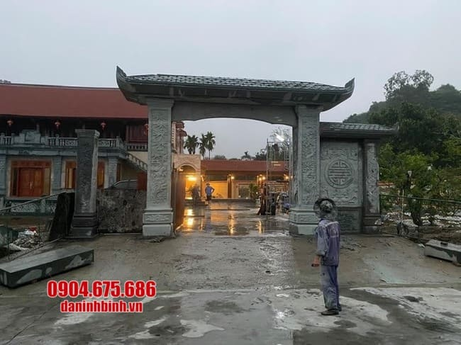 mẫu cổng tam quan bằng đá đẹp tại Vĩnh Phúc