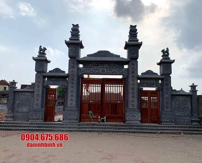 mẫu cổng tam quan đá đẹp tại Hà Nam