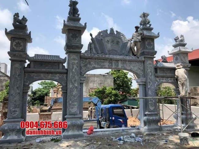 mẫu cổng tam quan đá đẹp tại Vĩnh Phúc