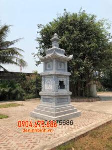 Kiểu mộ tháp đá đẹp chất lượng cao lắp đặt tại Tiền Giang