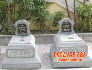 Lắp đặt mộ đôi bằng đá tại Bến Tre