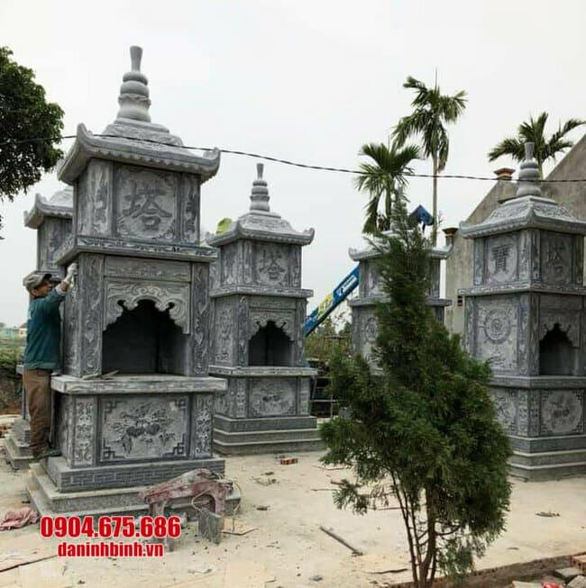 Mẫu tháp mộ đẹp bằng đá, mộ tháp đá để tro cốt tại Cần Thơ, Vĩnh Long