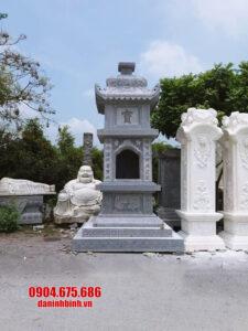 Mẫu tháp mộ đẹp bằng đá, mộ tháp đá thờ hũ tro cốt tại Bến Tre