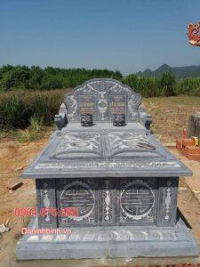 Mộ đôi đá đẹp tại Bạc Liêu - Mẫu mộ đôi bằng đá cho 2 người
