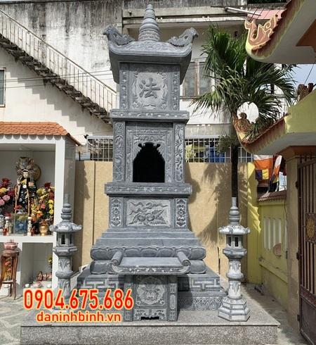 Mộ tháp sư bằng đá đẹp tại Hậu Giang