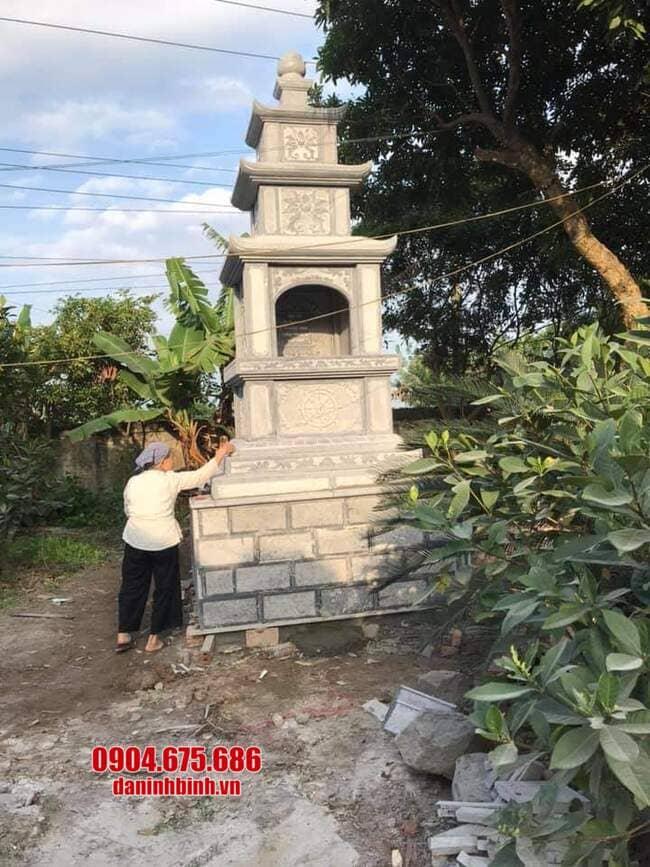 Tháp mộ đá đẹp để tro cốt tại Bến Tre
