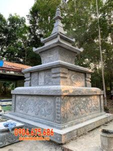 kiểu mộ tháp đẹp bằng đá được lắp đặt tại Bình Dương