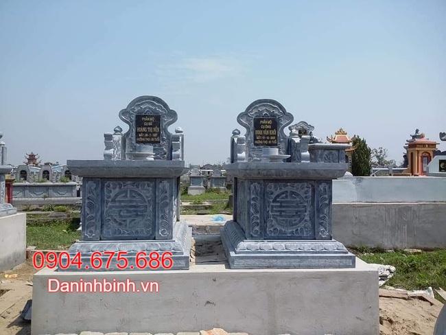 mộ đôi bằng đá tự nhiên tại bạc liêu