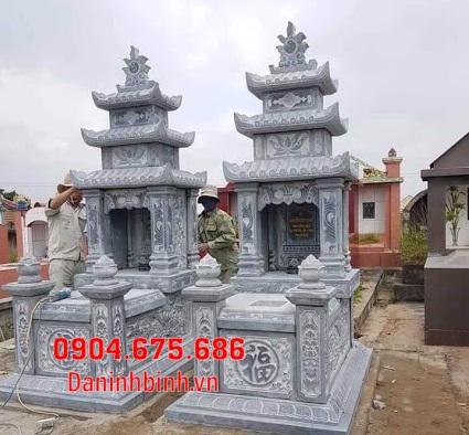 mộ đôi đẹp tại Bình Thuận - Xây mộ đôi bằng đá tại Bình Thuận 1
